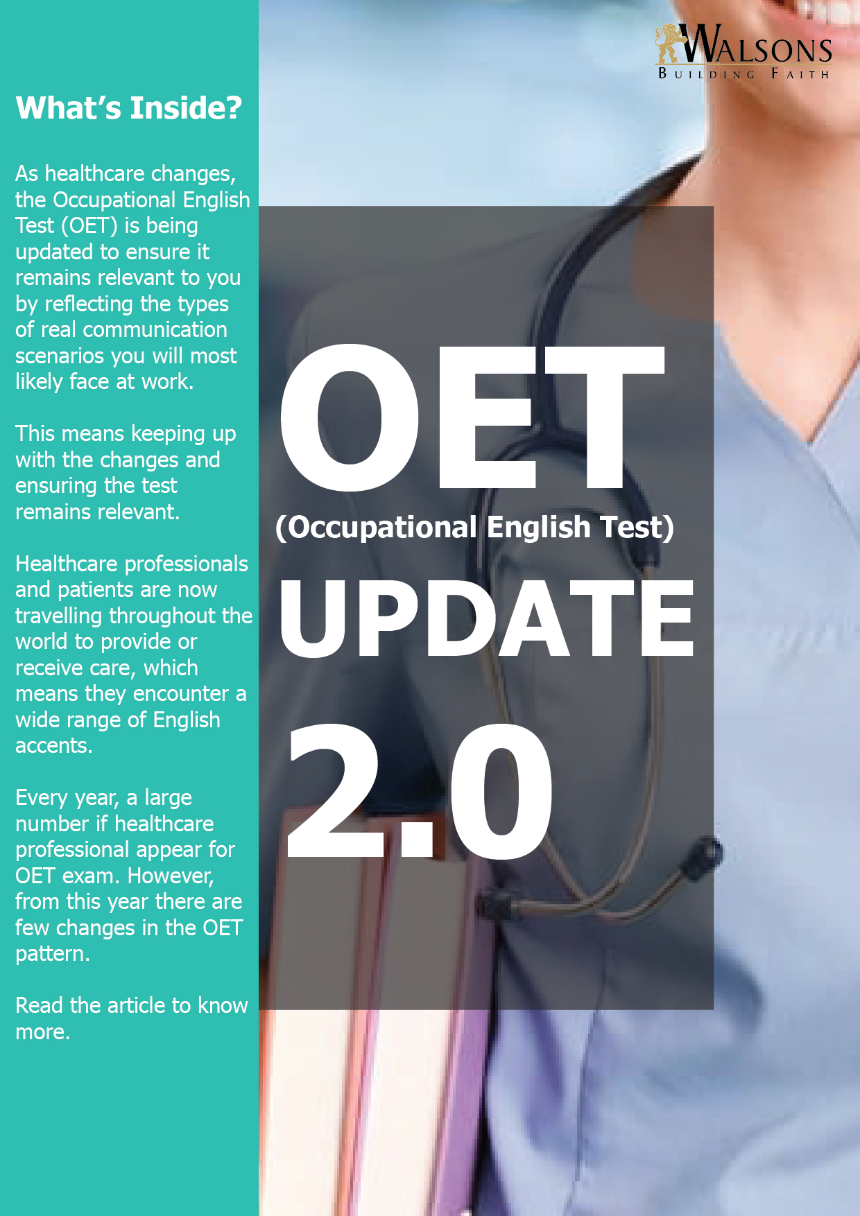 OET(Occupational English Test) Update 2 0 – Walsons Healthcare